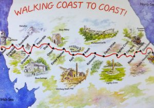 Walking Coast to Coast route